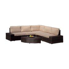 Santa Cruz 6 Piece Seating Group with Beige Cushions
