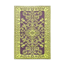 Classic Duo Tone Aubergine Outdoor Area Rug