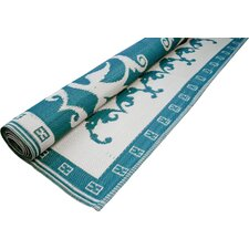 Teal/Off White Optic Floormat