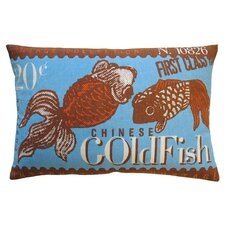 Postage Cotton Goldfish Print Pillow