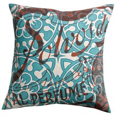 Press Cotton Print Polvos and Tile Pillow