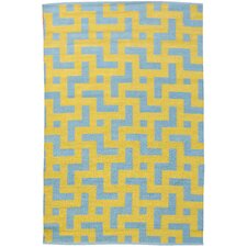Persia Aqua/Mustard Outdoor Rug