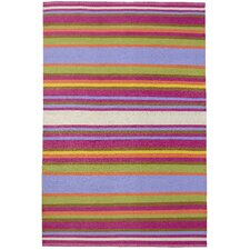 Folk Multi-Color Striped Outdoor Rug