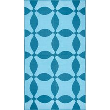 Optic Teal / Turquoise Outdoor Rug