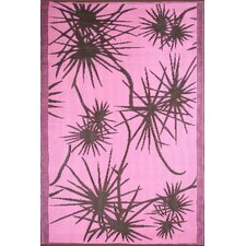Bamboo Pink / Brown Outdoor Area Rug