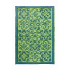 <strong>Koko Company</strong> Primrose Apple Green Rug