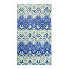 Sari Border Lapis Outdoor Area Rug