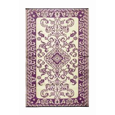 Classic Violet / Ivory Outdoor Area Rug