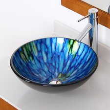 Double Layered Glass Bowl Bathroom Sink