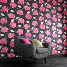 Serenity Romance Floral Botanical Wallpaper