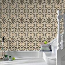 Barbara Hulanicki Flock Baroque Geometric Flocked Wallpaper