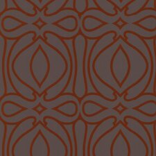 Barbara Hulanicki Flock Baroque Geometric Flocked Wallpaper