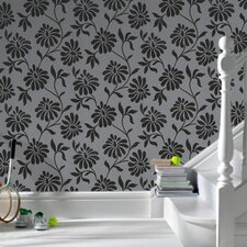 <strong>Graham & Brown</strong> Barbara Hulanicki Flock Ophelia Floral Botanical Flocked Wallpaper