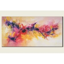 Abstract Scroll Painting Print on Canvas