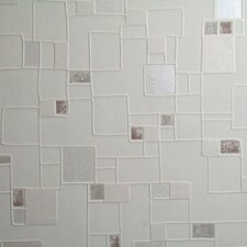 Contour Spa Pastel Geometric Tile Foiled Wallpaper