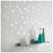 Contour Spa Pastel Geometric Tiles Foiled Wallpaper