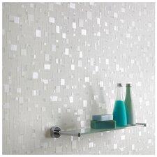 Contour spa pastel geometric tiles foiled wallpaper for Wayfair bathroom wallpaper