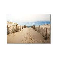 Portfolio Walk To The Beach Photographic Print on Canvas