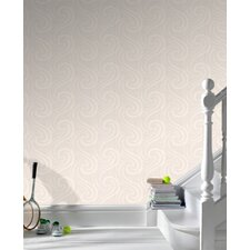 Paintable Mistral Wallpaper in White