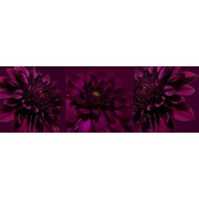 Dahlia Trio Canvas Blocks (Set of 3)