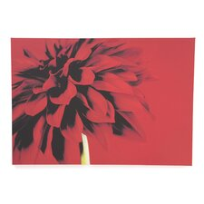 "Red Dahlia Printed Canvas Art - 30"" X 40"""