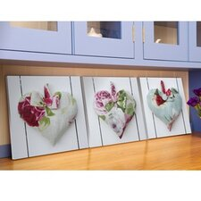 Hearts Canvas Wall Art (Set of 3)
