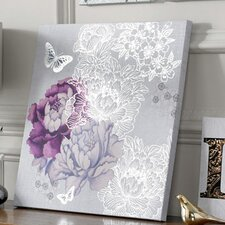 Floral Metallic Canvas Wall Art