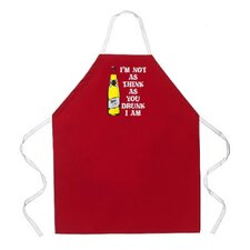 I'm Not As Think Apron