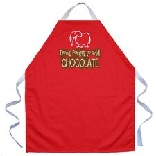 Add Chocolate Apron in Red