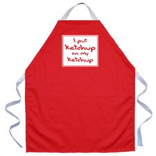 <strong>Attitude Aprons by L.A. Imprints</strong> Ketchup on my Ketchup Apron in Red
