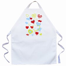 <strong>Attitude Aprons by L.A. Imprints</strong> Hearts Apron in Natural