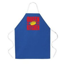 <strong>Attitude Aprons by L.A. Imprints</strong> Queen of the Kitchen Apron in Dark Blue