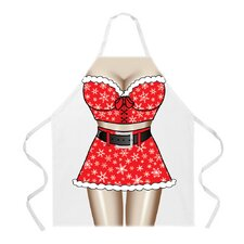 Santa Girl Apron in Natural