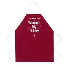 <strong>Attitude Aprons by L.A. Imprints</strong> Where's My Drink? Apron
