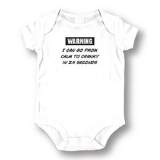 <strong>Attitude Aprons by L.A. Imprints</strong> Calm To Cranky Baby Romper