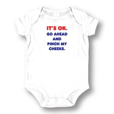 <strong>Attitude Aprons by L.A. Imprints</strong> Pinch My Cheeks Baby Romper