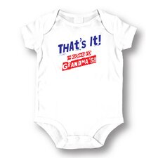 <strong>Attitude Aprons by L.A. Imprints</strong> Going to Grandmas Baby Romper