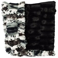 Fancy Leopard Embossed Dog Cuddle Blanket
