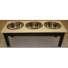 3 Bowl Traditional Style Pet Diner (2 qt Bowls)