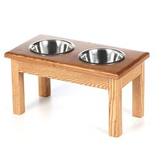<strong>Classic Pet Beds</strong> 2 Bowl Traditional Style Pet Diner