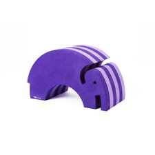 Tumbling Elephant in Purple