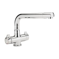 Contract 22.5 x 14.3cm Turn Monobloc Sink in Chrome Plated