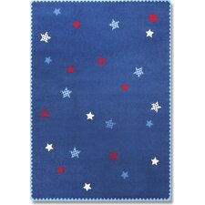 Teppich Space Stars in Blau