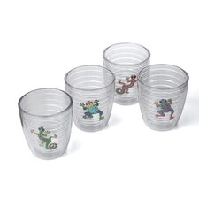 Tropical and Coastal Gecko / Frog 12 oz. Insulated Tumbler (Set of 4)