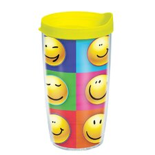 Smiley Faces 16 oz. Wrap Insulated Tumbler (Set of 4)