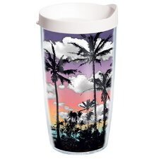 Palm Tree 16 oz. Wrap Insulated Tumbler (Set of 4)