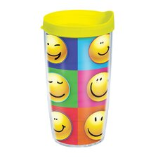 Smiley Faces 16 oz. Wrap Insulated Tumbler (Set of 2)