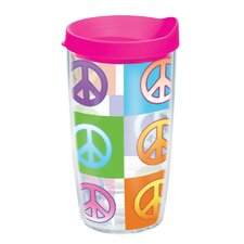 Peace Sign 16 oz. Wrap Insulated Tumbler (Set of 4)