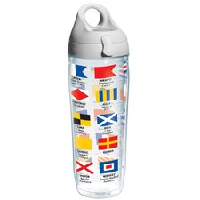 Wrap Nautical Flags Water Bottle