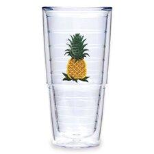 Garden Splendor Pineapple 24 oz. Big-T Insulated Tumbler (Set of 2)